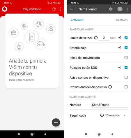 Las aplicaciones V by Vodafone® y Trackisafe