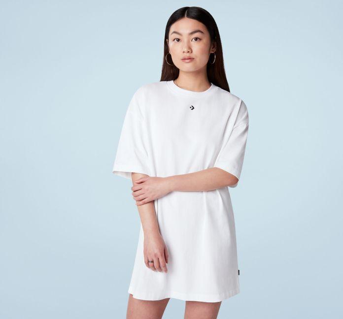 Wordmark Oversized Graphic T-Shirt Dress