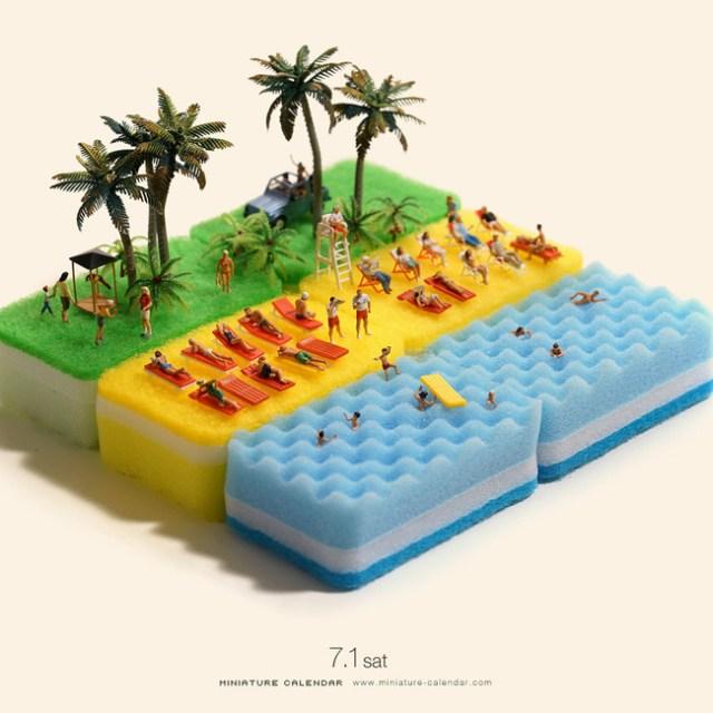 Miniature Calendar Tatsuya Tanaka 25