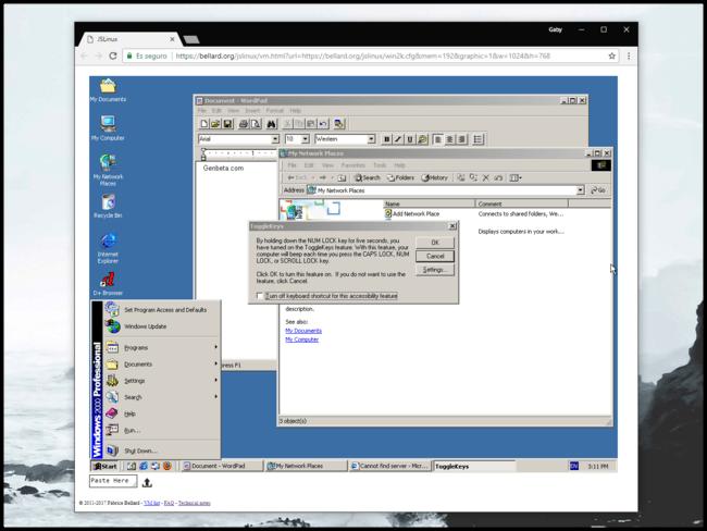 Windows 2000 En El Navegador