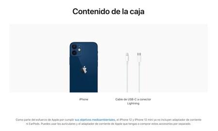 El contenido de la caja de los iPhone 12