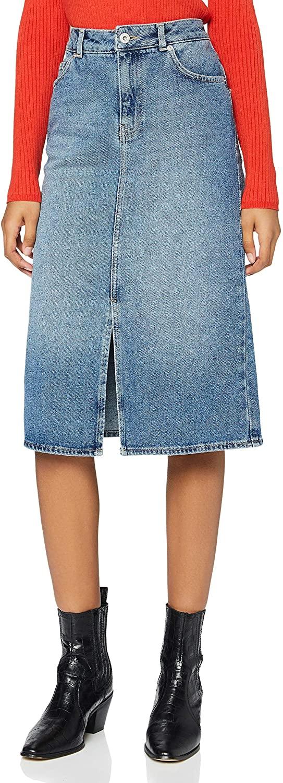 Amazon Brand - find.  Women's Midi Denim Skirt