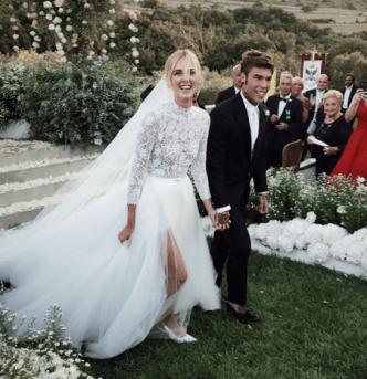 Resultado de imagen para chiara ferragni vestido de novia