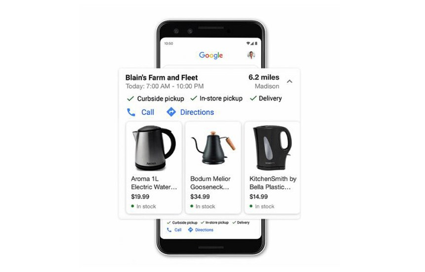 Google Shopping ahora te muestra los productos a la venta en tiendas cercanas con una interfaz similar a la de Maps