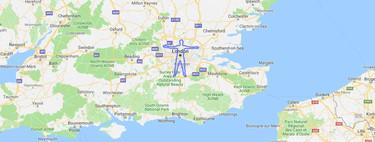 Un hombre camina más de 300 kilómetros para hacer una gigantesa silueta de su cuerpo en Google Maps
