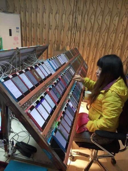 App Store Ranking Manipulation Farm