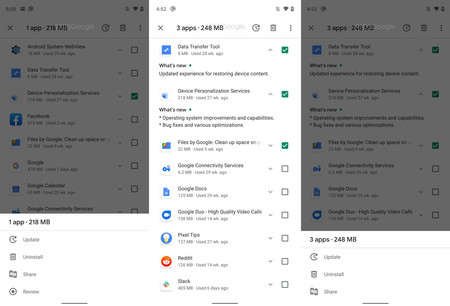 """Google Play Store will renew the section """"My applications"""" and will allow to send applications with 'Nearby Share'"""