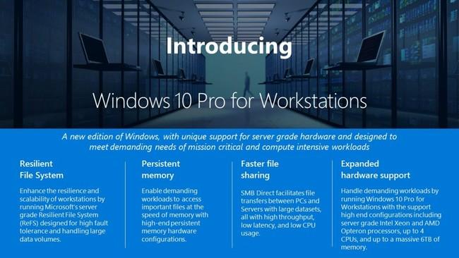 Permalink to Microsoft anuncia Windows 10 Pro for Workstations, una nueva versión para los ordenadores más avanzados