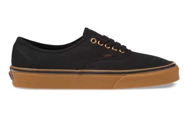 Unisex Authentic Black / Rubber Vans Casual Shoes