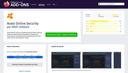 Windows e Avast Online Security obtêm essa extensão para o Firefox Firefox