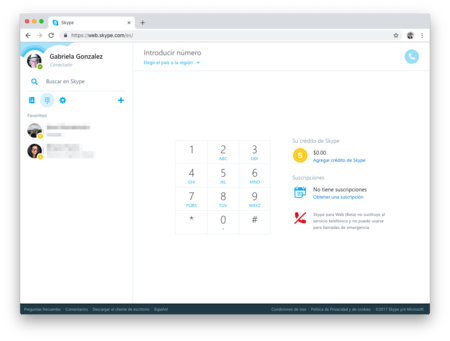 Skype Web Feo