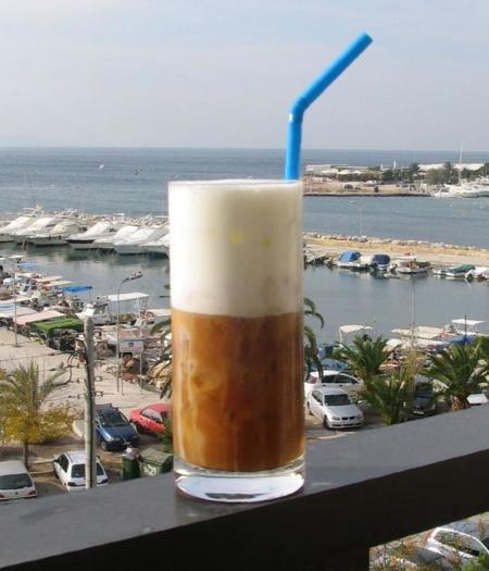 Café frappé en Grecia