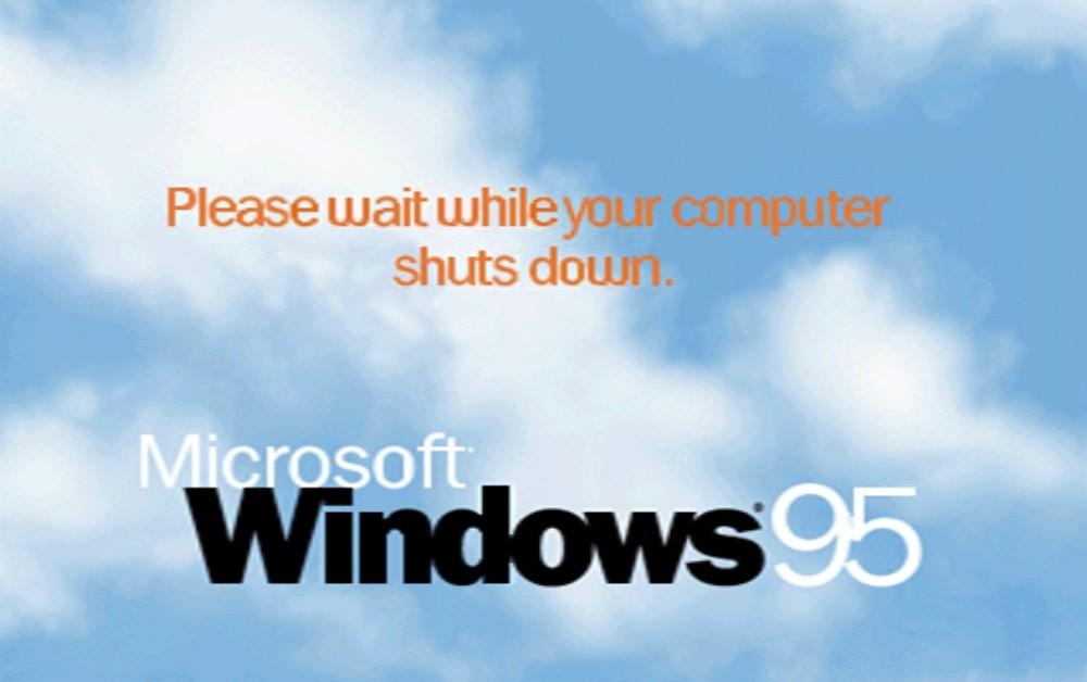 Permalink to Cuando Windows 95 no podía apagar el equipo solo y te pedía ayuda para hacerlo