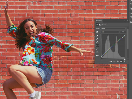 capa de ajuste de curvas estilo de color look en photoshop