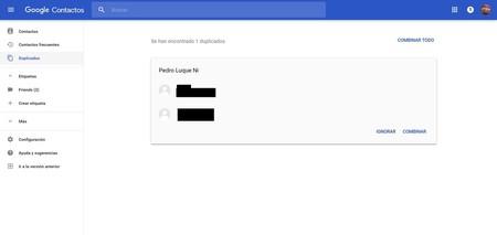 Contactos Google duplicados