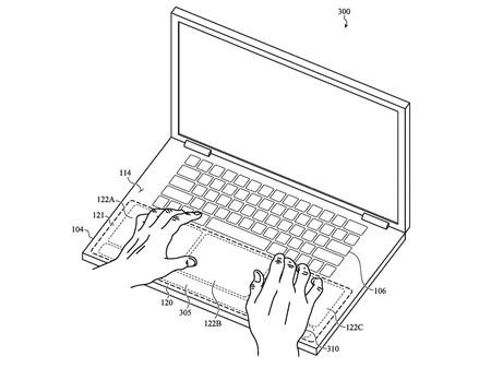 Localized Haptics Patent Macbook Hands