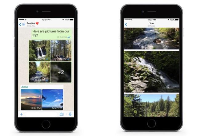Novedades en WhatsApp: llegan los álbumes de fotografías y los filtros