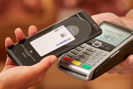 Demo de Samsung Pay en un proceso de compra habitual, con un TPV del establecimiento.