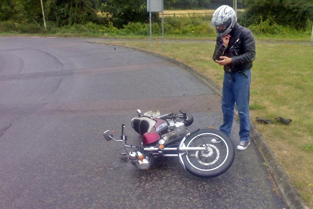 Caida Moto