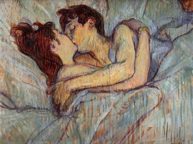 In Bed The Kiss 1892