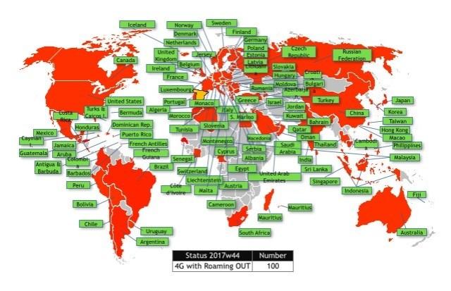 Los clientes de Orange℗ ya pueden conectarse a redes 4G en 100 países(naciones) gracias a nuevos acuerdos