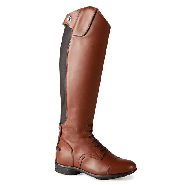 Riding Boots Fouganza 900 Jump Adult Brown Leather Calf M