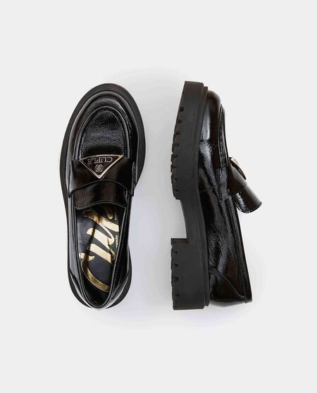 Women's Black Patent Leather Loafers