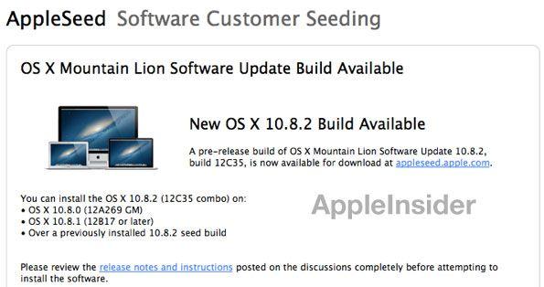 Lanzamiento de OS X 10.8.2