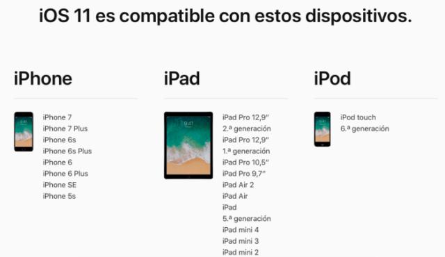 iOS 11 compatibles