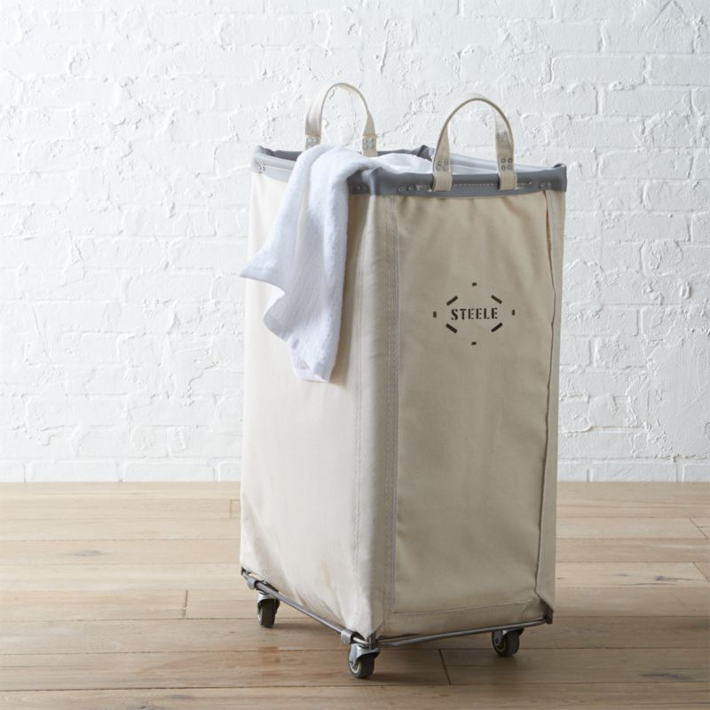 Steele Vertical Canvas Laundry Bin Crate And Barrel