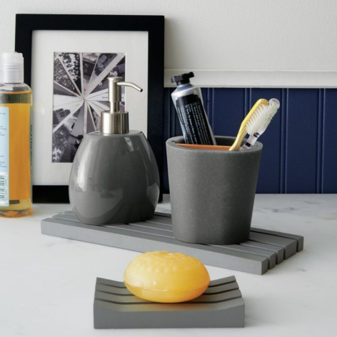 grey bathroom accessories set uk - bathroom design
