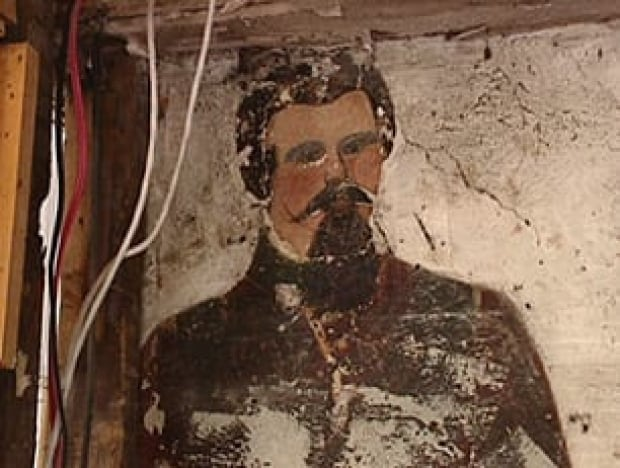 19th Century Mural Exposed In Home Renovation Prince