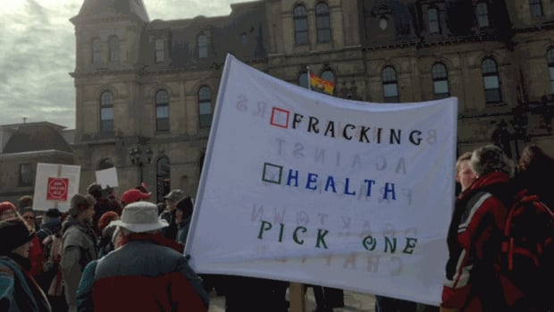 An anti-shale gas rally was held at the legislature on Tuesday, just as the legislature was set to begin a new session.
