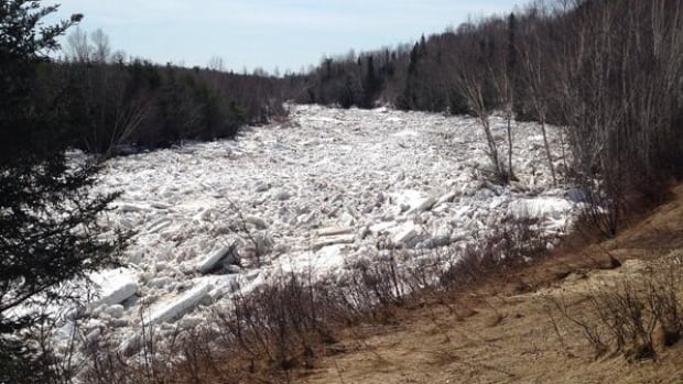 Three ice jams in Doaktown, N.B., that river watchers are keeping an eye on have the potential to cause further flooding problems if the massive amounts of ice come together blocking the flow.