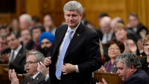Canadian Prime Minister Stephen Harper rises to vote to extend Canada's involvement in airstrikes against ISIS and expand the mission into Syria for up to a year.