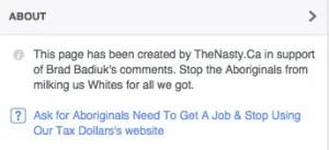 Aboriginal Facebook page
