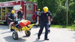 Hamilton Fire rope rescue Tews Falls