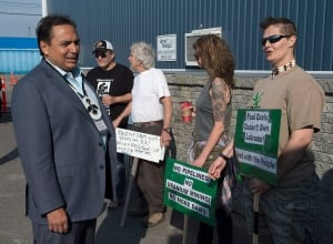 Perry Bellegarde outside meeting with premiers Premiers Native Leaders 20150715