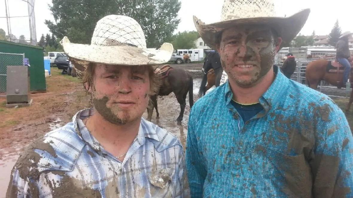 Cochrane Rodeo 2015 Brings The Mud Calgary Cbc News