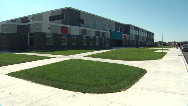 The new École Les Éclaireurs will open Tuesday on Fredericton's northside.