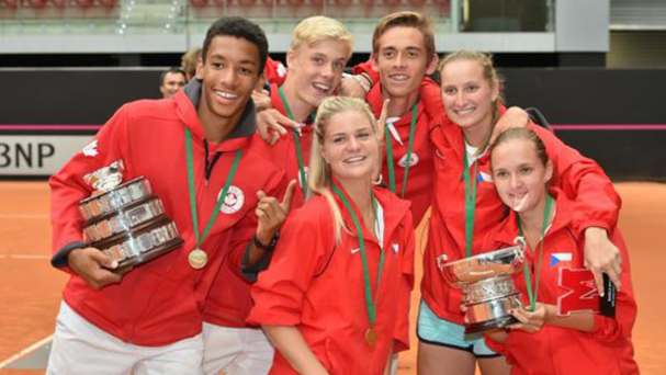 Image result for young tennis Canadian