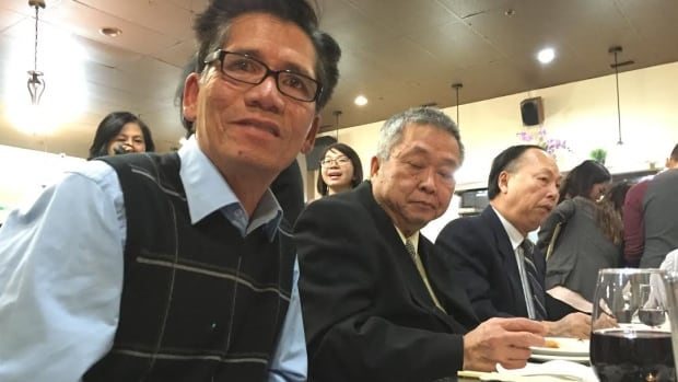 Peter Phan, who came to Canada as one of the Boat People in the 1970s, took part in a fundraiser Thursday night put on by members of the Vietnamese community to benefit the Syrian refugees coming to Calgary. (Colleen Underwood/CBC)