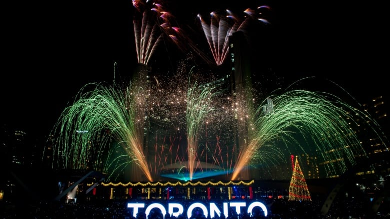 Your guide to New Year s Eve road closures   CBC News Fireworks are slated to light up Toronto City Hall marking the official  start of 2018 at Nathan Phillips Square   Marta Iwanek Canadian Press