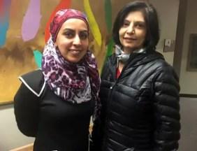 Zarqa Nawaz (left) and Rubina Surtie