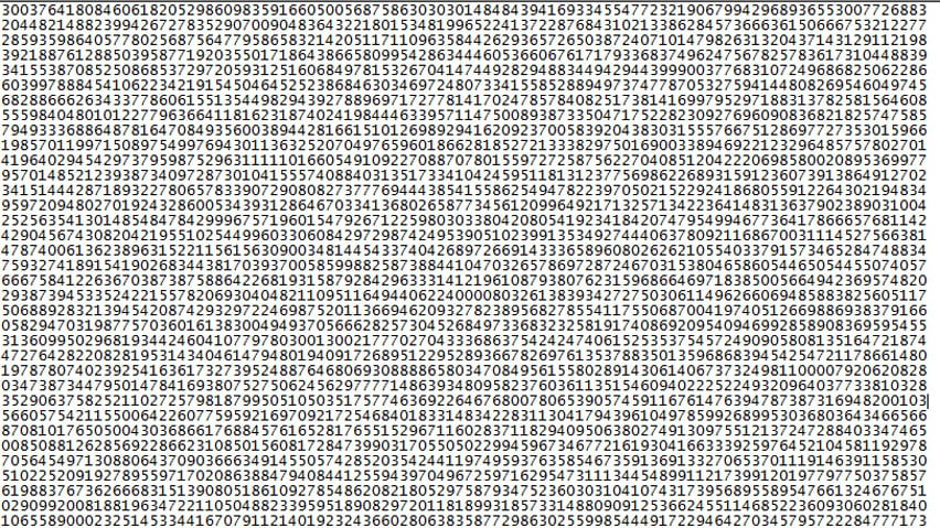 New Prime Number Discovered At 22 Million Digits