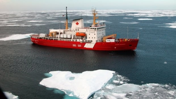 The Canadian Coast Guard icebreaker Pierre Radisson escorts ships in the Gulf of St. Lawrence and on the St. Lawrence and Saguenay Rivers, but has also broken the ice on Lake Superior.
