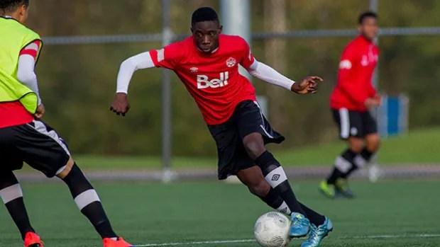 Alphonso Davies Joins Canada S U 20 Soccer Team Cbc