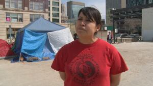 INAC protestor