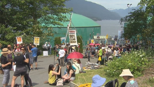 Kinder Morgan protest Break Free