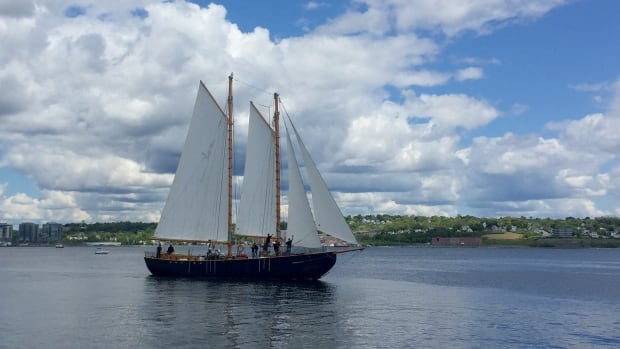 Hundreds of people gathered on the Halifax waterfront Saturday afternoon to greet the crew of the Katie Belle.